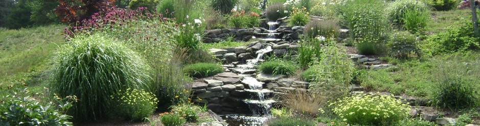 A piece of paradise water gardens landscape lighting waterfals a piece of paradise water gardens landscape lighting aloadofball Image collections